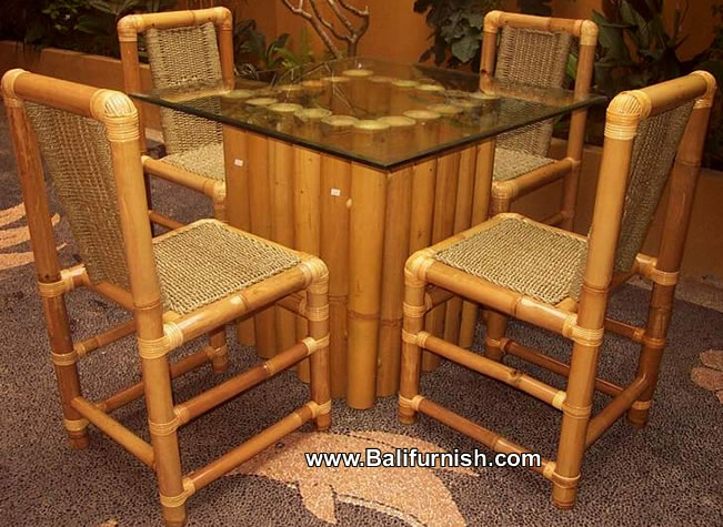 Contoh gambar meja dari bambu sederhana  Isi Rumahku