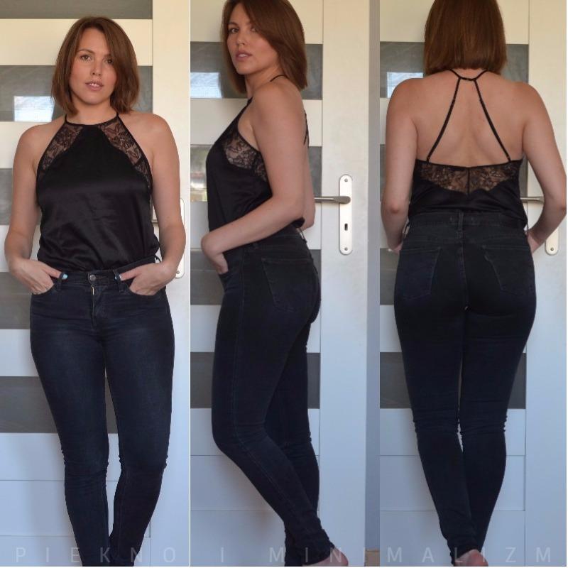szare jeansy Levis 710 super skinny