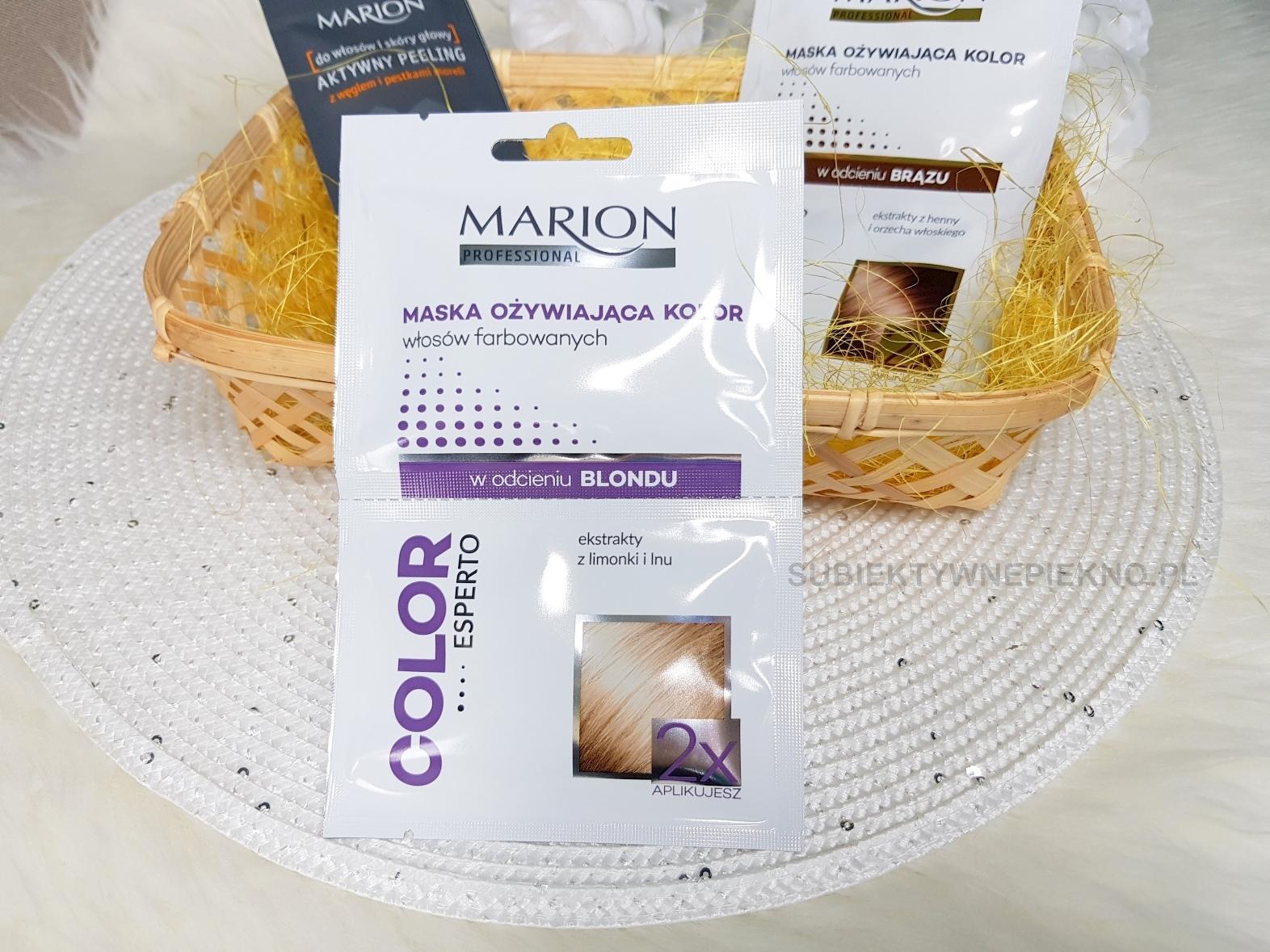 Marion maska ożywiająca kolor włosów farbowanych blond