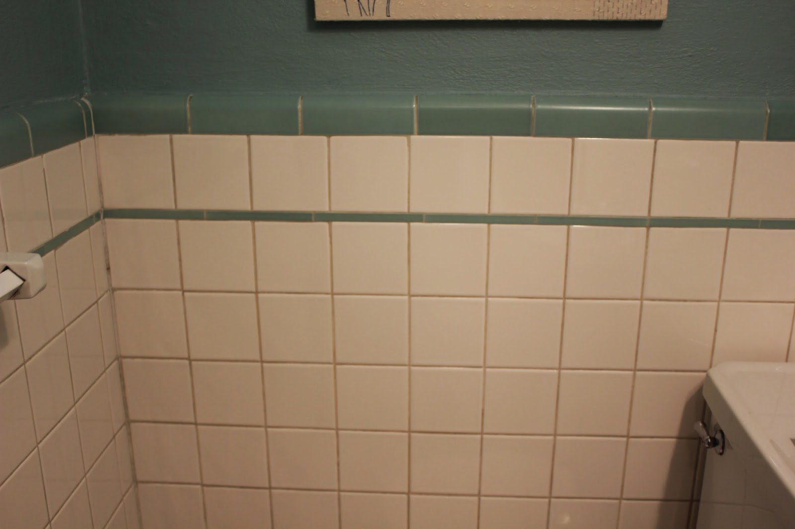 So Dingy That I Actually Thought The Tiles Themselves Were Off White