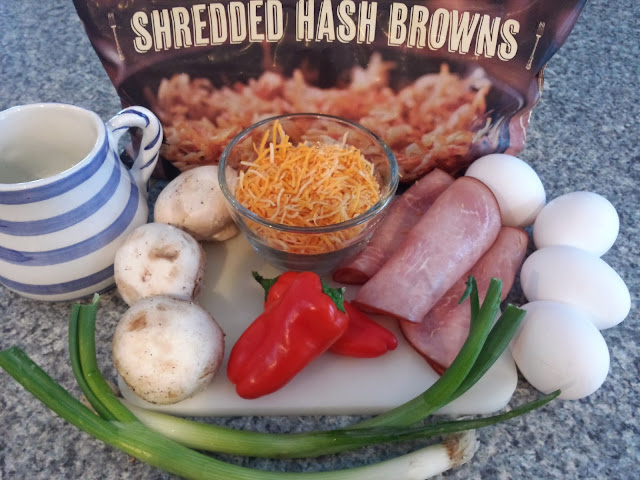 ingredients for Egg Hashbrown Pizza