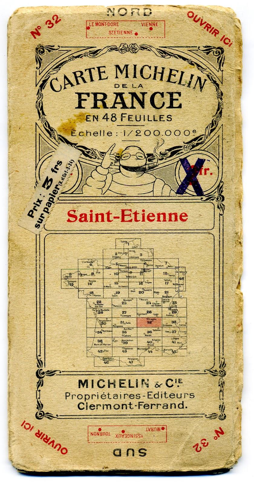 Matt Artpix 1920s French Michelin Maps