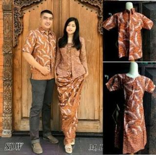 Contoh Model Baju Batik Couple Keluarga