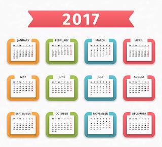 2017カレンダー無料テンプレート224