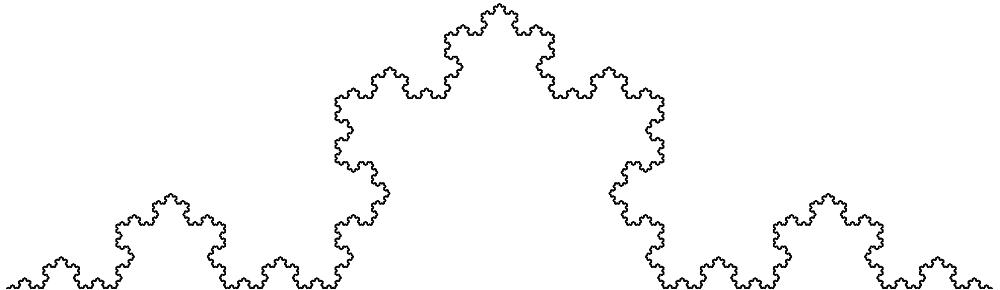 Lumihiutaleen sivua muistuttava kiemurteleva fraktaali. Jokainen sivu on jaettu kolmeen osaan, joista keskimmäinen on tasasivuinen kolmio.
