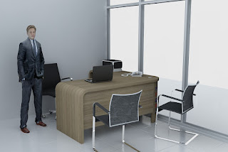 Meja Kantor Direktur dan Meja Rapat Untuk 9 Orang - Furniture Kantor Jawa Tengah