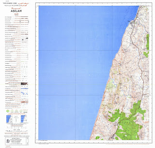 ASILAH Morocco 50000 (50k) Topographic map free download