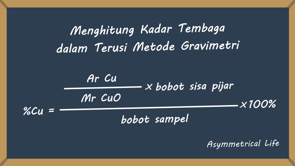 Perhitungan Kadar Tembaga dalam Terusi Metode Gravimetri
