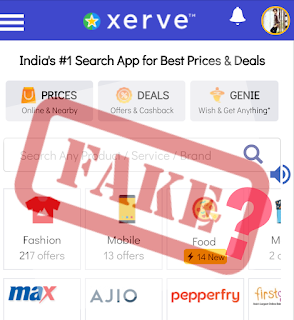 Xerve - the fake website ?? Do not buy anything from here ??