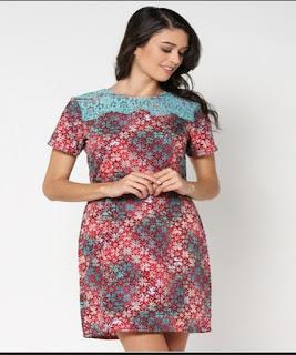 gaun batik depan pendek belakang panjang