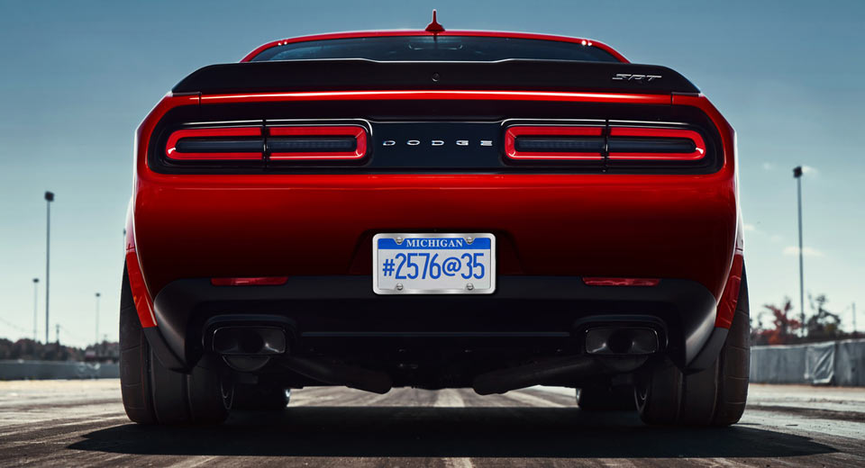 Latest Dodge Demon Teaser Hints at Car's 'Dual Purpose'