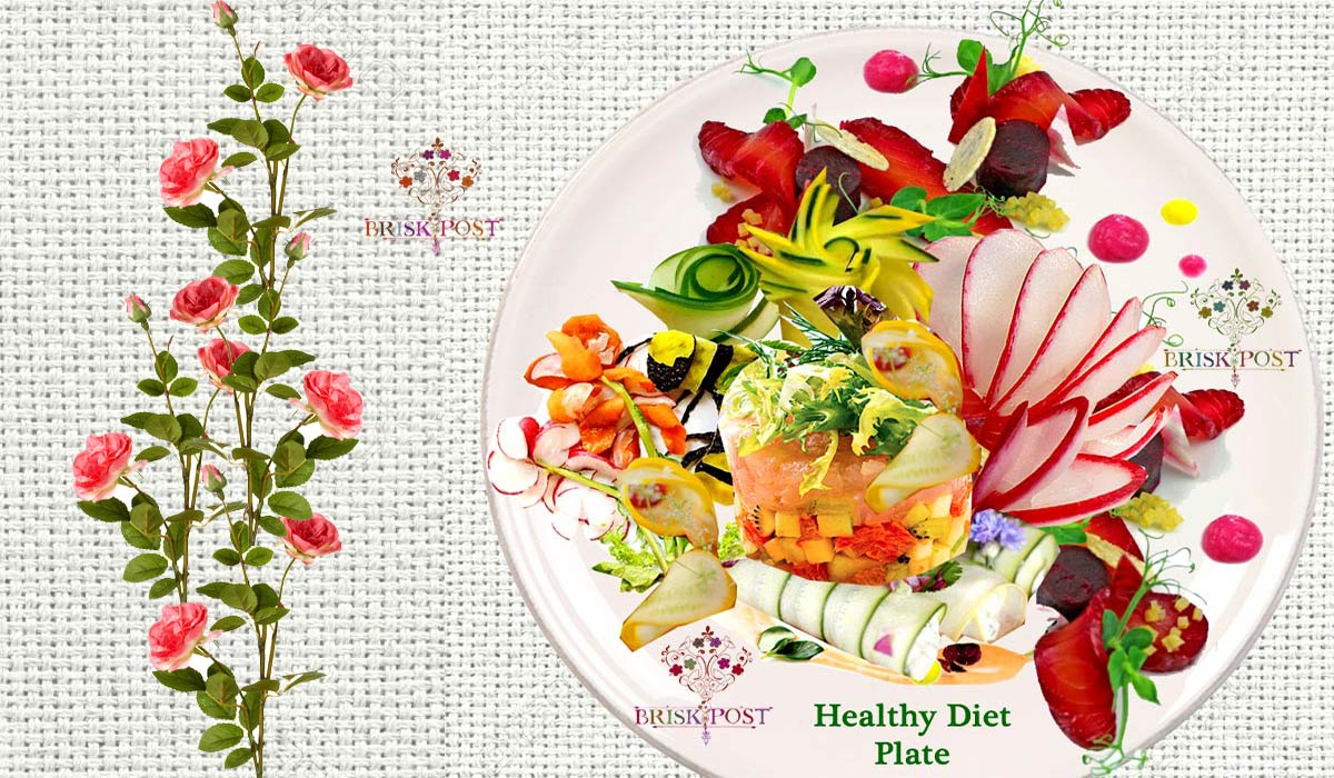 Ideally healthy diet plate