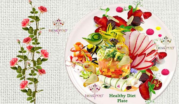 Beautiful healthy diet plate
