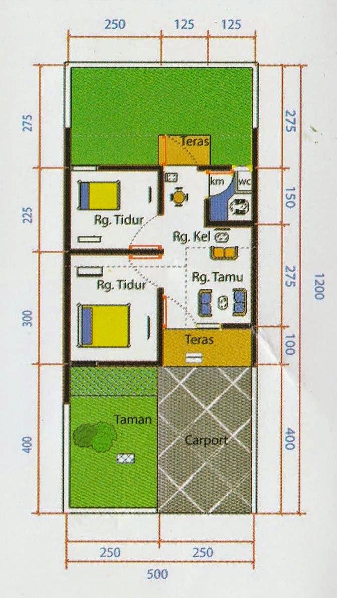 Desain Bangunan Rumah Type 2560