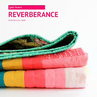 Reverberance Quilt Pattern | Modern Log Cabin | Shannon Fraser Designs