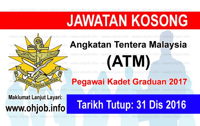 jawatan Kerja Kosong Angkatan Tentera Malaysia (ATM) logo www.ohjob.info disember 2016