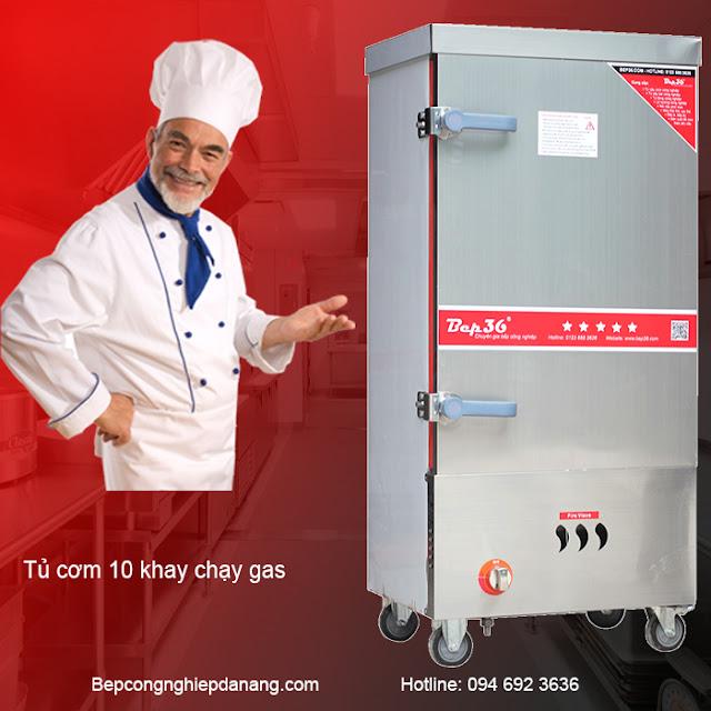 tủ nấu cơm 10 khay gas