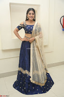 Niveda Thomas in Lovely Blue Cold Shoulder Ghagra Choli Transparent Chunni ~  Exclusive Celebrities Galleries 044.JPG