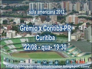 Coritiba e Grêmio voltam a se enfrentar pela fase brasileira da Copa  Sul-Americana 2012 d4caccb8b59e4