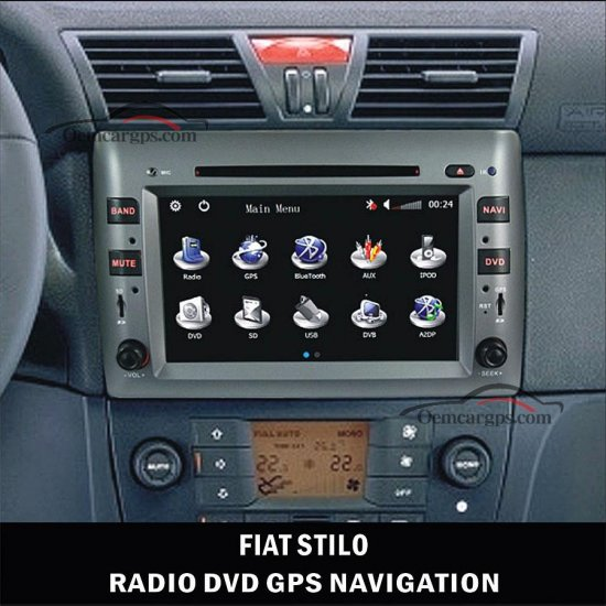 8 inch touch screen autoradio fiat stilo dvd gps bluetooth oem navigation system car stereo. Black Bedroom Furniture Sets. Home Design Ideas