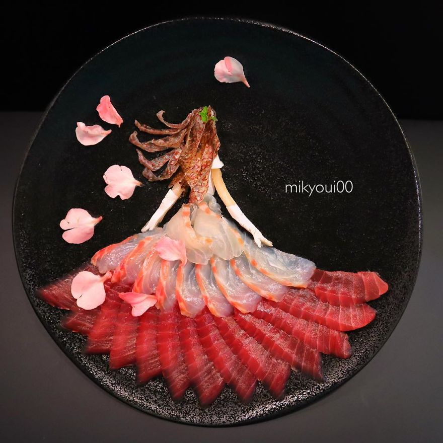 Sashimi Artist Designs Stunning Art From Raw Fish And Other Foods