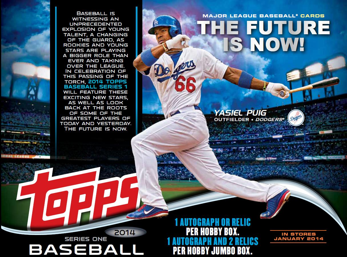 Bdj610s Topps Baseball Card Blog 2014 Topps Series 1 Sell Sheets