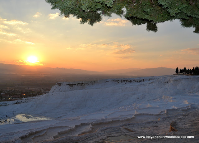 Sunset in Pamukkale