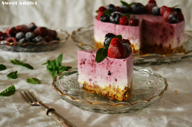 tartas fáciles sin horno tarta de frutos rojos