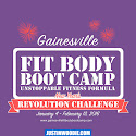 Gainesville Fit Body Boot Camp New Years Challenge 2016 Graphic Design