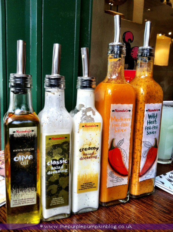 Nando's Watford Restaurant Review at The Purple Pumpkin Blog