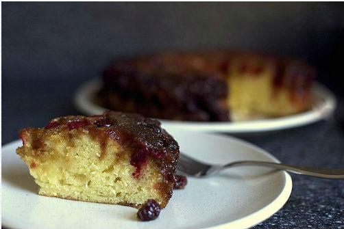 клюквенно-карамельный пирог фото