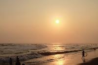 foto pemandangan pantai parangtritis