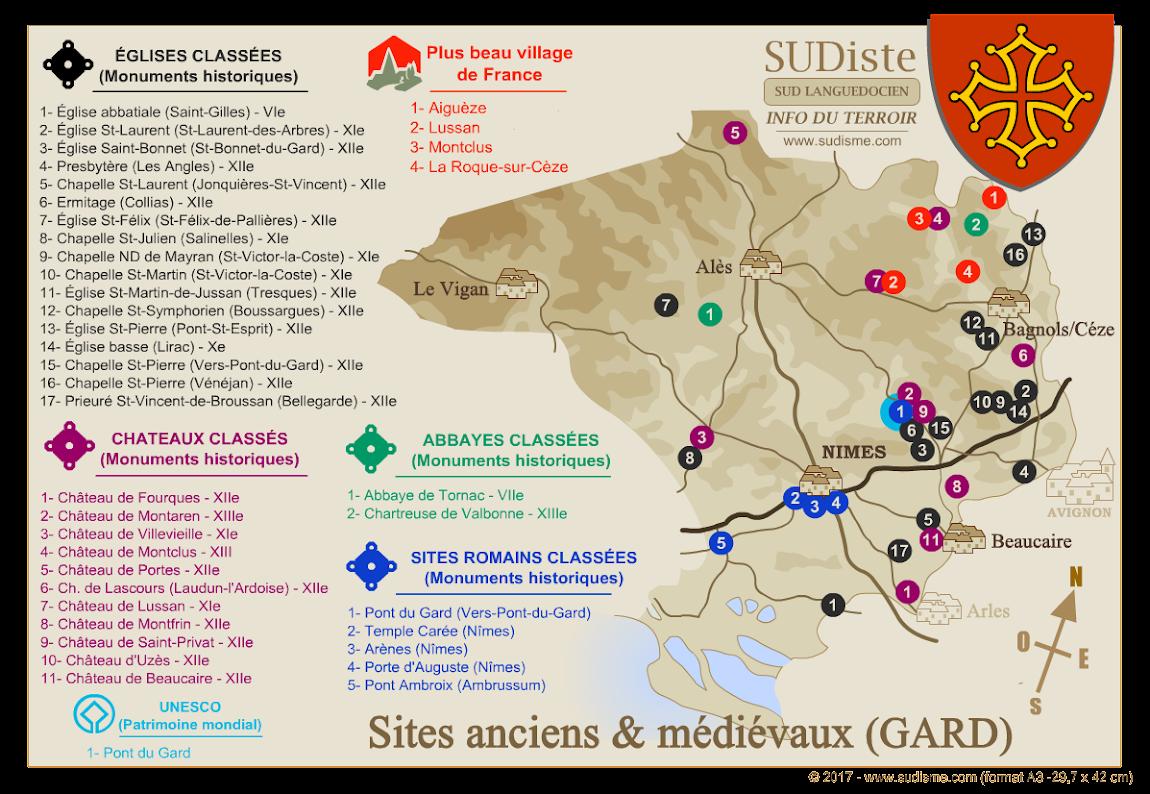 Monuments historiques du Gard