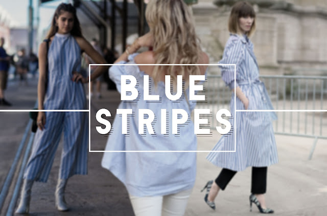 Blue Stripes is the trend this season amongst bloggers, designers, and fashion lovers