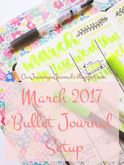 march 2017 bullet journal setup