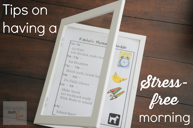Tips on having a stress-free morning :: OrganizingMadeFun.com