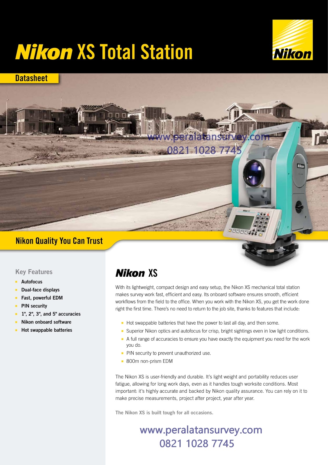 Brosur Total Station Nikon XS Series