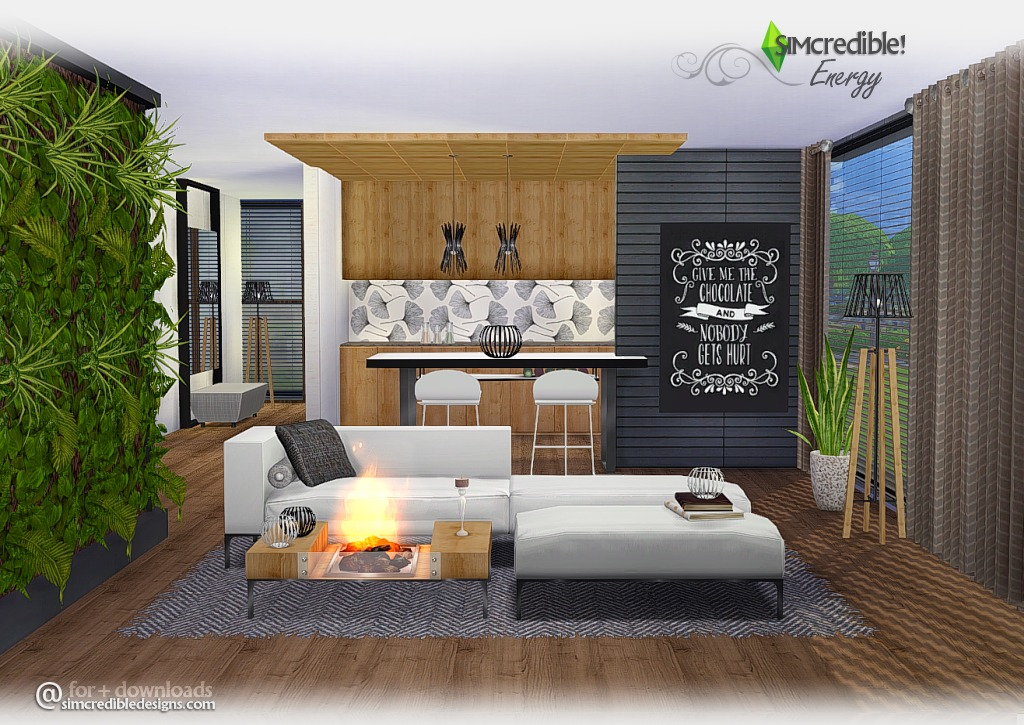My sims 4 blog energy living room set by simcredible designs for Living room sims 4