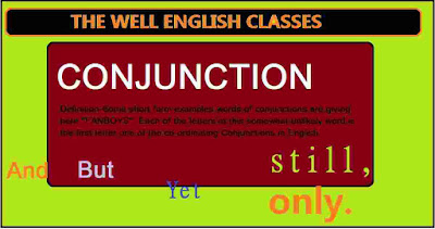 What are the conjunction words?