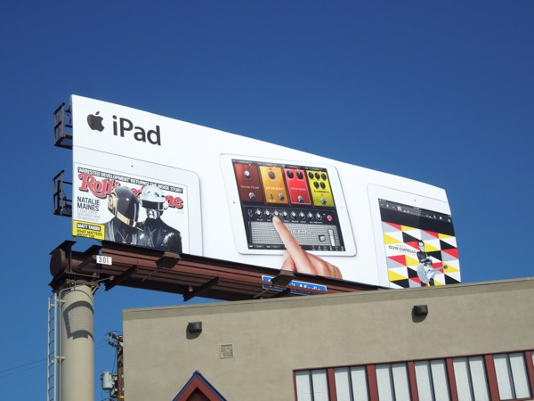 iPad Rolling Stone music billboard