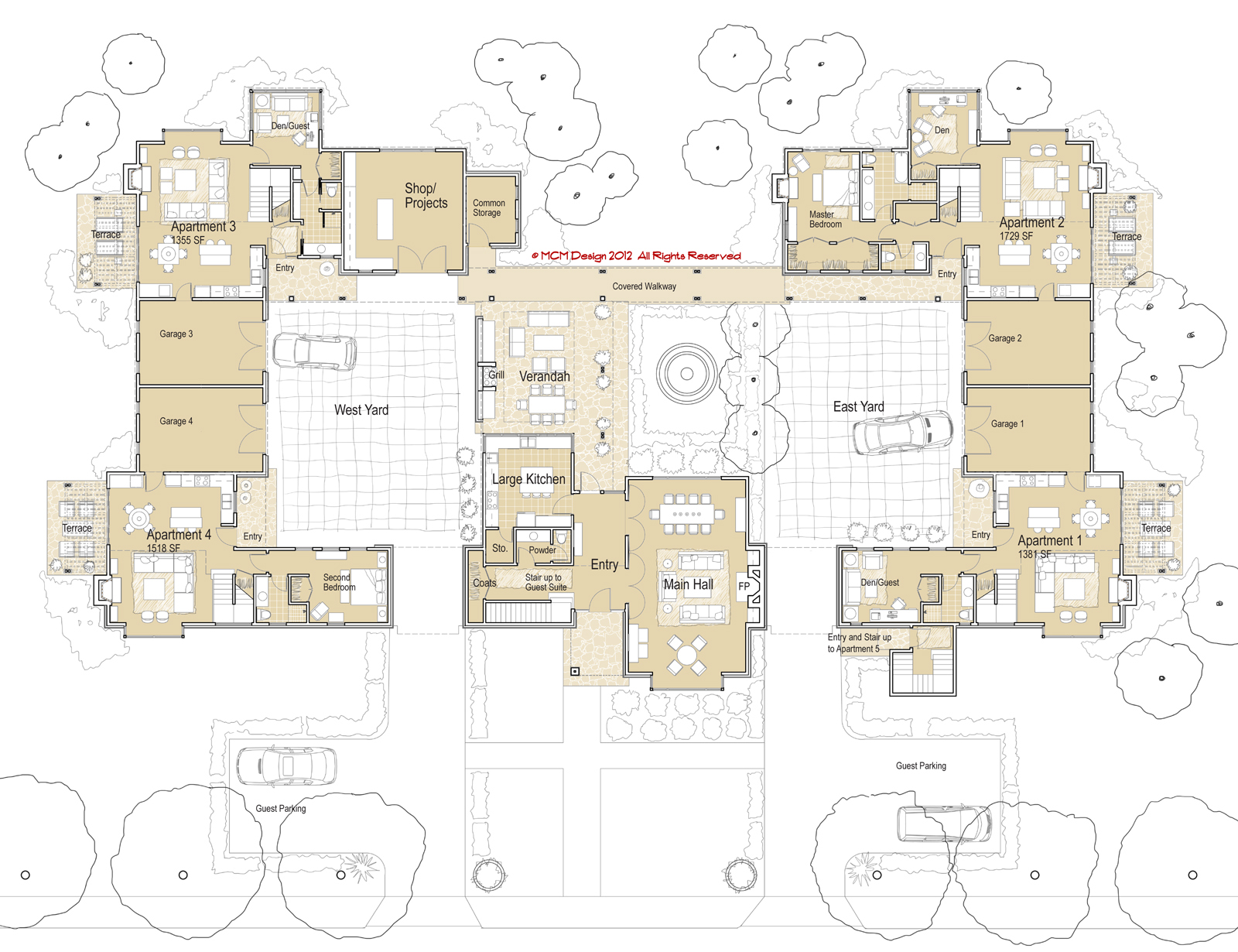 Townhouse Blueprints Mcm Design Co Housing Manor Plan