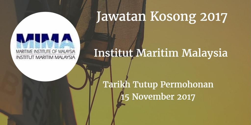 Jawatan Kosong MIMA 15 November 2017