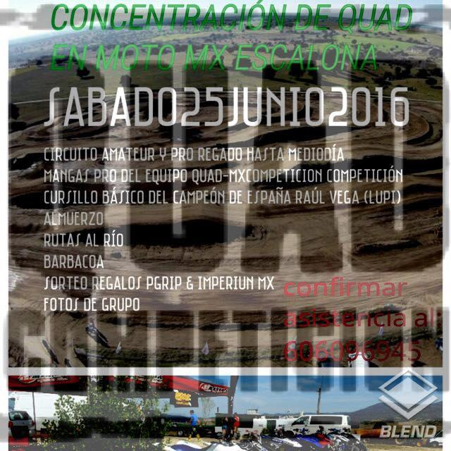 CONCENTRACION QUAD EN CIRCUITO MOTO MX ESCALONA