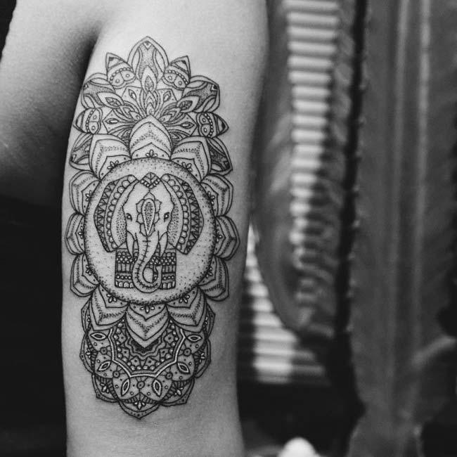 lord ganesh elephant tattoo