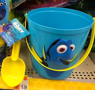 finding dory sand pail shovel