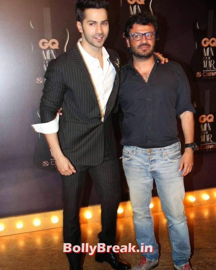 Varun Dhawan, Vikas Bahl, Red Carpet Pics of GQ Men Of The Year Awards 2014