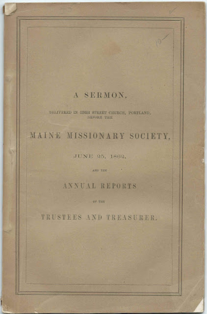 Life Members of the Maine Missionary Society Who Were Recognized in the 1862 Annual Report