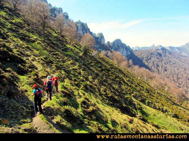 Ruta al Campigüeños y Carasca: Entrando en el bosque Porupintu