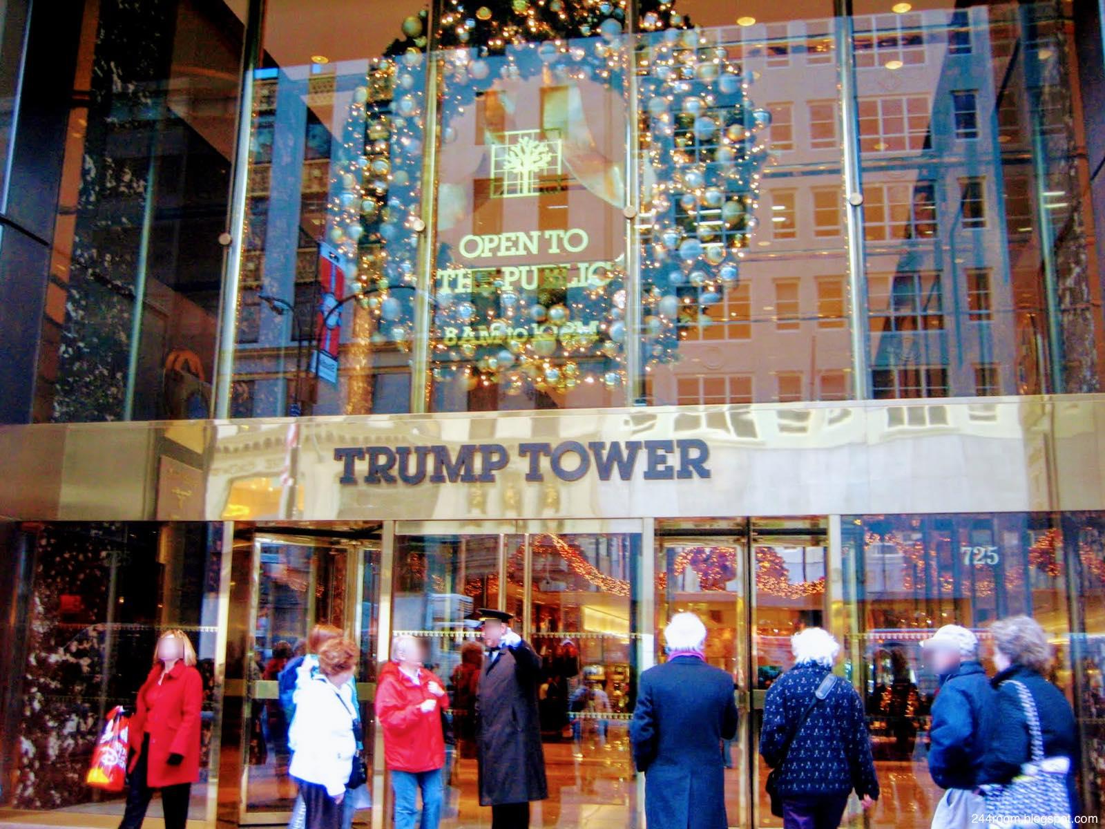 トランプタワーエントランス TRUMP TOWER entrance2