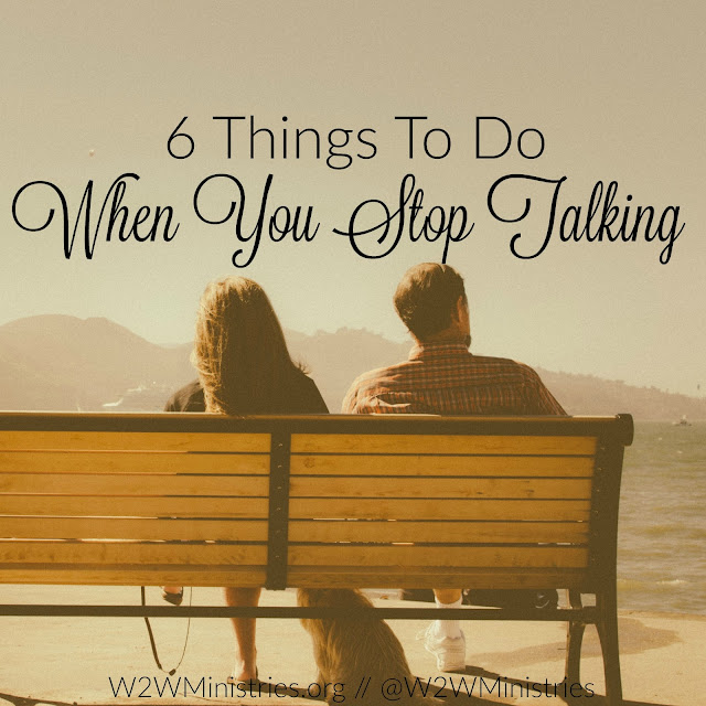 Have you and your husband stopped talking? Try these 6 ways to open the lines of communication back up. #marriage #marriageMonday #communication